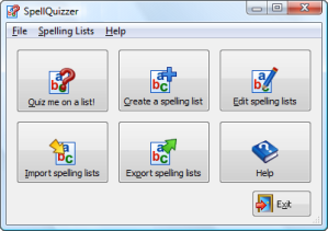 spellquizzer screen shot